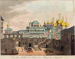 """Kreml in Moskau, Frontispiz in Georg Reinbecks """"Flüchtigen Bemerkungen"""", 1806.[9] (Quelle: Wikimedia)"""