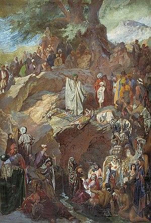 Muhammad preaching, 1840es-1850es, painting by...