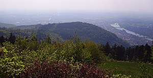 Gaisberg (Heidelberg) - View onto Gaisberg from the top of Königsstuhl
