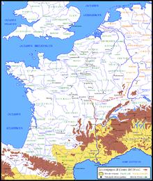 La campagna di Cesare del 58 a.C.