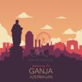 Ganja city like a NewYork.. Nyuyork sayağı Gəncə. (vector).png