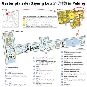 Xiyang Lou - Map of the Xiyang Lou