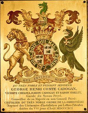 George Cadogan, 5th Earl Cadogan - Image: Garter Plate Henry Cadogan 5th Earl Cadogan 1891
