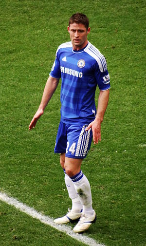 Gary Cahill - Cahill playing for Chelsea in 2012