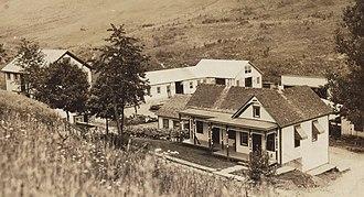 Gray Township, Greene County, Pennsylvania - Gas company office at Graysville