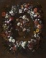 Gaspar Peeter Verbruggen (II) - Flower garland surrounding a vase of flowers.jpg