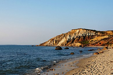 The Gay Head Cliffs in Aquinnah, a town in Martha's Vineyard