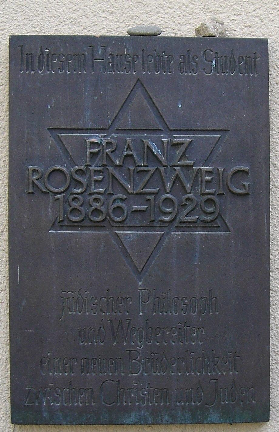 Gedenktafel Franz Rosenzweig 1886-1929 Freiburg Breisgau