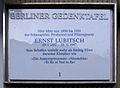 Gedenktafel Schönhauser Allee 183 (Prenz) Ernst Lubitsch.JPG