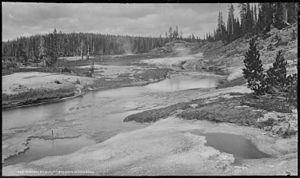 Shoshone Lake - Shoshone Geyser Basin in 1878
