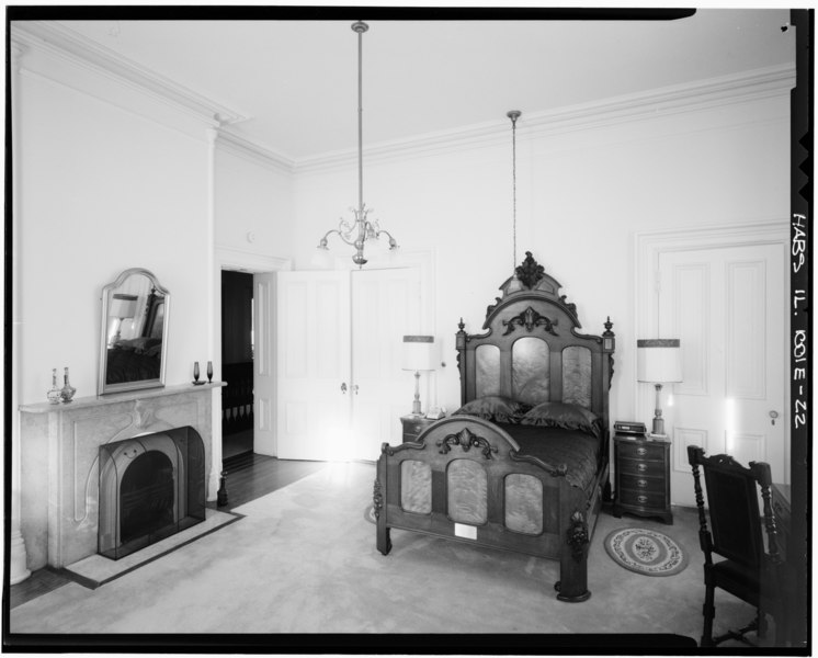 File:General view of SW Bedroom, second floor; looking NE. (Ryan) - Rock Island Arsenal, Building No. 1, Gillespie Avenue between Terrace Drive and Hedge Lane, Rock Island, Rock HABS ILL,81-ROCIL,3-1-22.tif