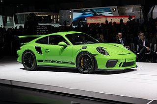 Porsche 911 GT3 sports car developed for GT3-class racing based on the Porsche 911