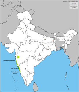 Konkani language Indo-Aryan language spoken in India