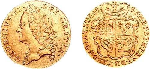 George II half guinea 692175