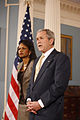 George W Bush and Condoleezza Rice 2008.jpg