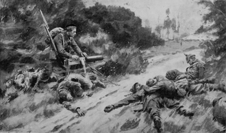 George Wilson (VC) - George Wilson captures the enemy machine gun (artist's reconstruction)
