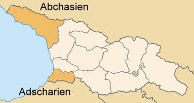 Georgien Karte Regionen.Verwaltungsgliederung Georgiens Wikipedia