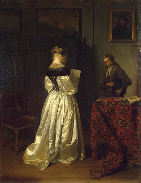 File:Gerard Terborch - Reading a Letter.JPG