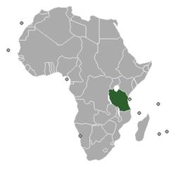 Położenie Niemieckiej Afryki Wschodniej