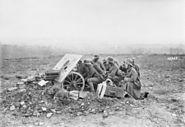 German anti-tank gun & crew October 1918 AWM H13453
