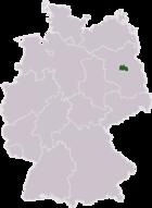 Γεωγραφική θέση της πόλης στον χάρτη της Γερμανίας