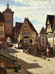Am Plönlein in Rothenburg.