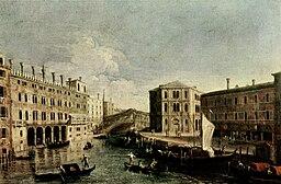 Giovanni Antonio Canal - Il Canale Grande a Rialto