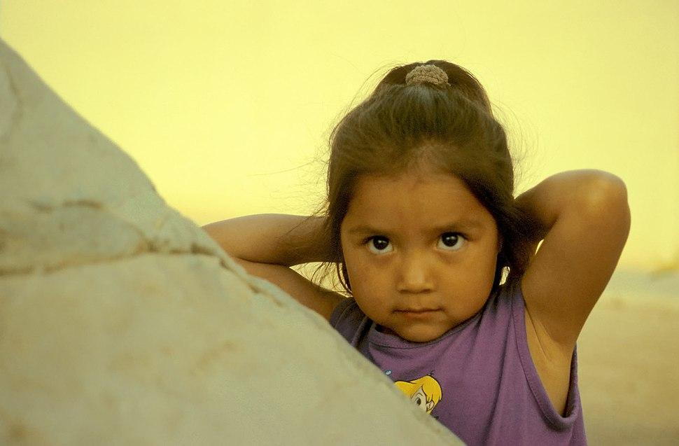 Girl in the Hopi Reservation