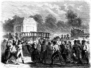 Girondins - Execution of the Girondins, woodcut from 1862