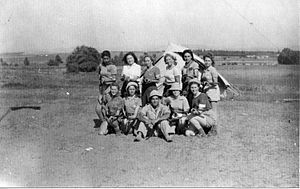 Givat Haim - Members of the Maccabi Youth Movement training at Givat Haim in 1948