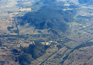 Glenrowan, Victoria - Aerial view from the east