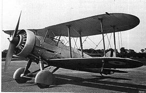 Gloster Gauntlet - J9125 as the Gauntlet predecessor S.19B in May 1933: Mercury VIs engine