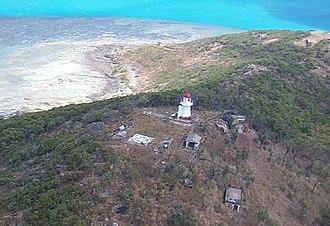 Goods Island Light - An aerial view of Goods Island Lightstation, 1999