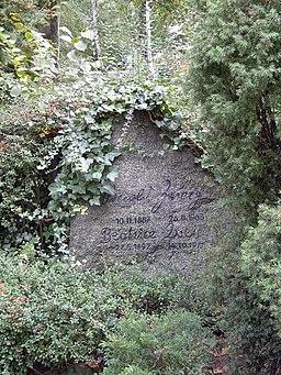 Grab von Arnold Zweig