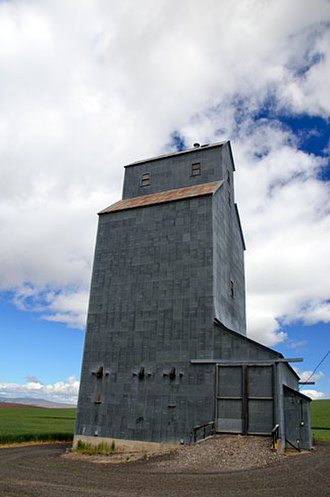 Sherman County, Oregon - A grain elevator along Gordon Ridge Road, Sherman County
