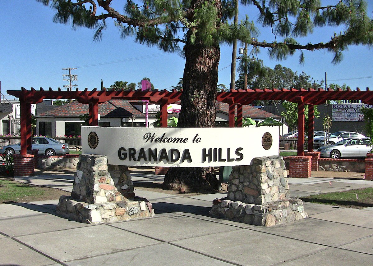 Granada Hills, Los Angeles - Wikipedia on van nuys ca map, san fernando ca map, la tuna canyon ca map, united states ca map, conejo valley ca map, santa clarita ca map, lake forest ca map, cardiff by the sea ca map, downey ca map, east la ca map, la conchita ca map, arrowbear ca map, puente hills ca map, verdugo hills ca map, hammil valley ca map, goffs ca map, feather falls ca map, north hills ca map, 91354 zip code map, whitethorn ca map,