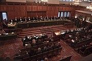 Grand Hall de Justice de Palais de La Paix à La Haye Pays-Bas