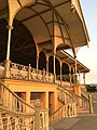 Grandstand of the former Victoria Park Racecourse, Adelaide -- close-up of central stairs.jpg