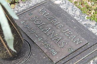 Valerie Solanas - The grave of Valerie Jean Solanas at Saint Marys Catholic Church Cemetery, Fairfax County, Virginia