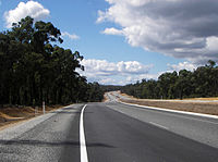 5Great Eastern Highway at The Lakes (a rural locality east of Perth), heading east