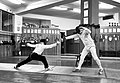 Greek Epee Fencers. The fencer Agapitos Papadimitriou (left) at Athenaikos Fencing Club.jpg