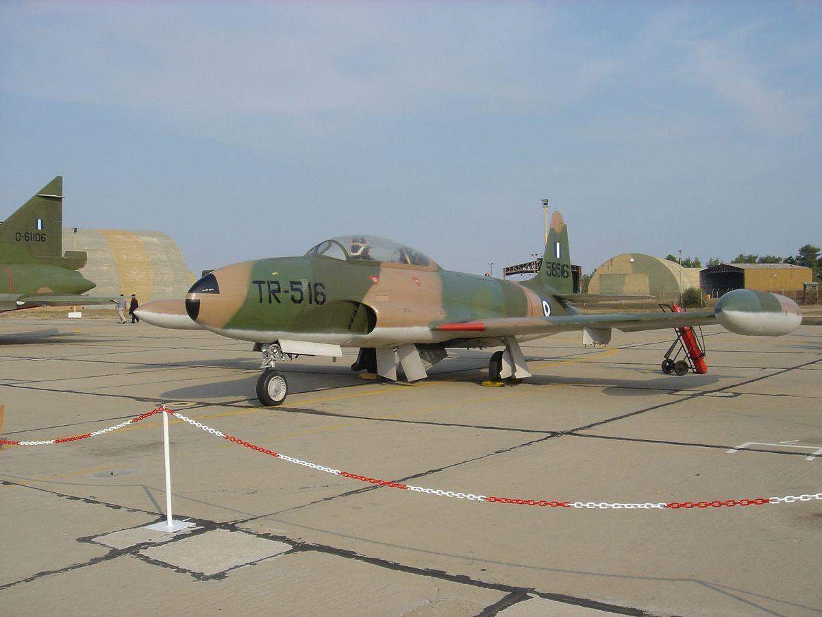 Px Greek T Shooting Star on Lockheed P 80