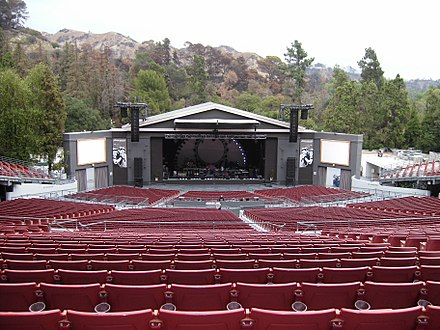 "The Greek Theater, Los Angeles where Cooper and Gaga recorded and filmed the sequence for ""Shallow"" Greek Theater 2007.JPG"