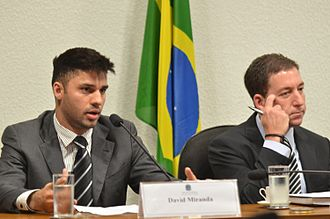 Glenn Greenwald - Miranda and Greenwald speak at the National Congress of Brazil in the wake of the 2013 mass surveillance disclosures.