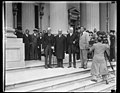 Greeted by the Vice President. Premier Ramsey MacDonald, today made his first call upon the Vice President of the United States. The group, made on the steps of the United States Capitol LCCN2016889442.jpg