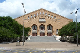 Gregory Gymnasium - The front of Gregory Gym