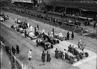 Carthage Street Circuit - Grid of the 1933 Tunis Grand Prix