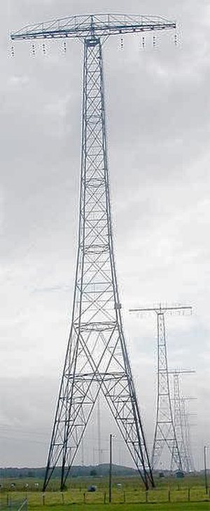 Very low frequency - Part of the aerial of the Grimeton VLF transmitter