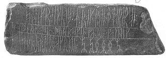Greenland - Kingittorsuaq Runestone from Kingittorsuaq Island (Middle Ages)