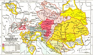Baden, Switzerland - The growth of Habsburg domains from 1282